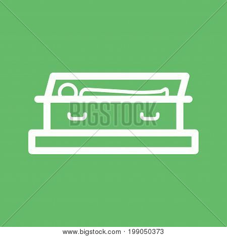 Coffin, vampire, open icon vector image. Can also be used for funeral. Suitable for mobile apps, web apps and print media.