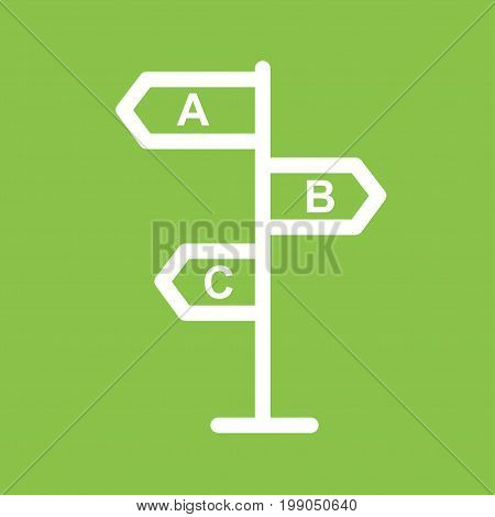 Sign, give, direction icon vector image. Can also be used for soft skills. Suitable for mobile apps, web apps and print media.