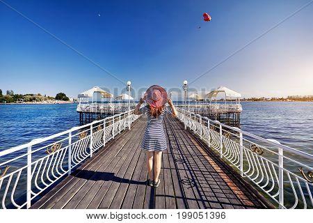 Woman At Issyk Kul Lake