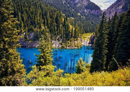 Beautiful Landscape Of Mountain Lake