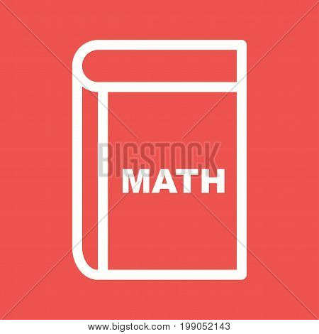 Mathematics, book, science icon vector image. Can also be used for Math Symbols. Suitable for use on web apps, mobile apps and print media.