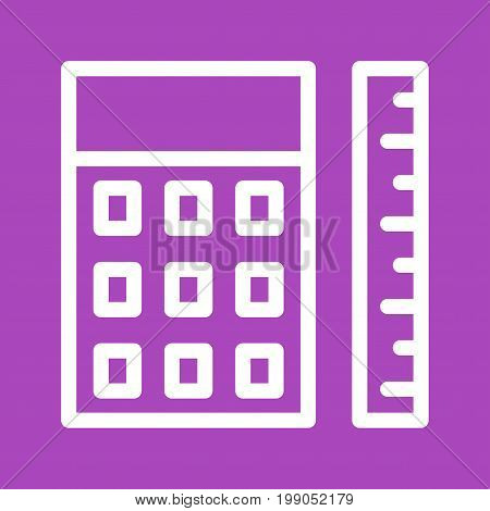 Measure, calculator, paper icon vector image. Can also be used for Math Symbols. Suitable for use on web apps, mobile apps and print media.