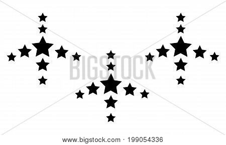 Collection stock style black star background vector art