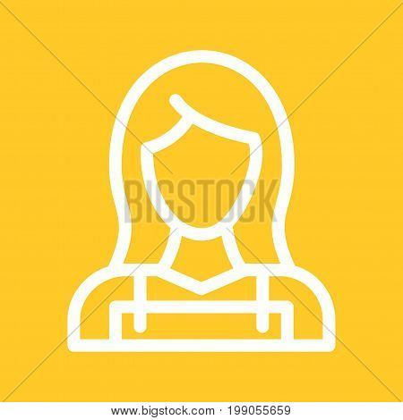 Cleaning, maid, lady icon vector image. Can also be used for Cleaning Services. Suitable for use on web apps, mobile apps and print media.