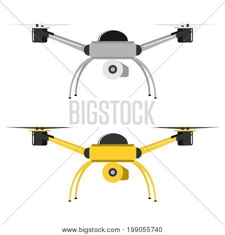 Flying drone icon flying dron. Flat design vector illustration vector.
