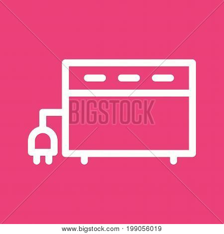 Convector, flat, heater icon vector image. Can also be used for Climatic Equipment. Suitable for mobile apps, web apps and print media.