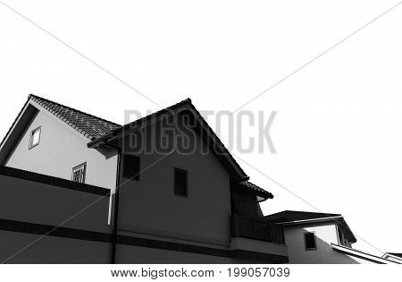 silhouette of Home and white background., silhouette of Home