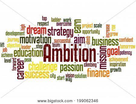 Ambition, Word Cloud Concept 3