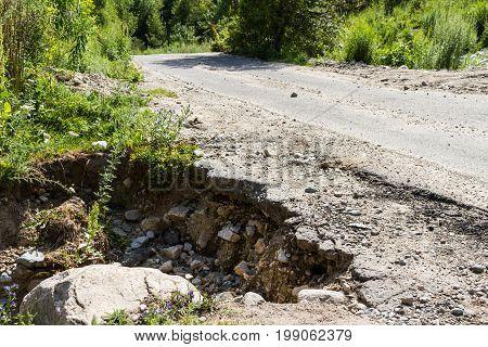The Road Has A Big Cleft