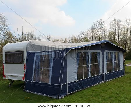 Travel Trailer With Awning Tent