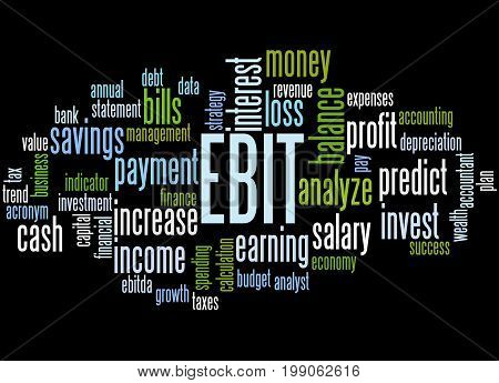 Ebit Earnings Before Interest And Taxes, Word Cloud Concept 2