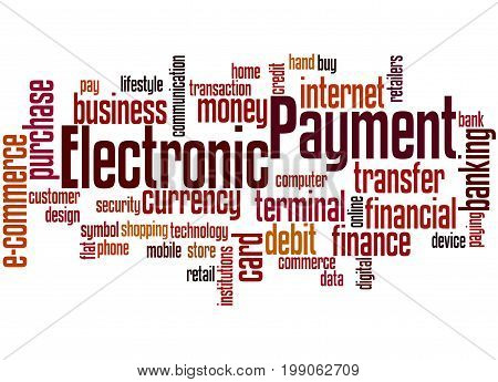 Electronic Payment, Word Cloud Concept 5