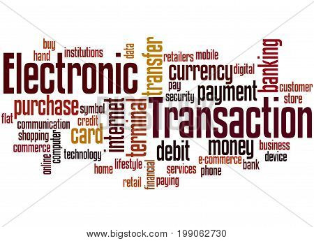 Electronic Transaction, Word Cloud Concept 2