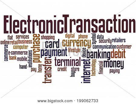 Electronic Transaction, Word Cloud Concept 3