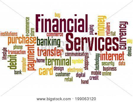 Financial Services, Word Cloud Concept 3