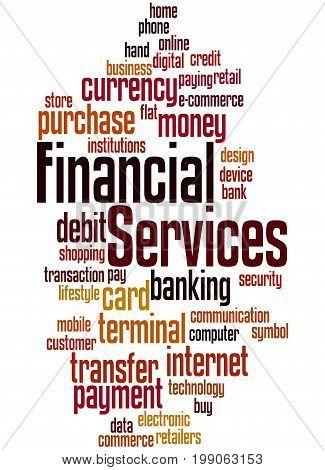 Financial Services, Word Cloud Concept 6