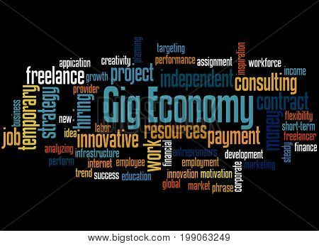 Gig Economy, Word Cloud Concept