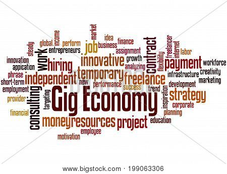Gig Economy, Word Cloud Concept 6