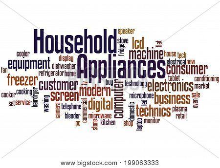 Household Appliances, Word Cloud Concept