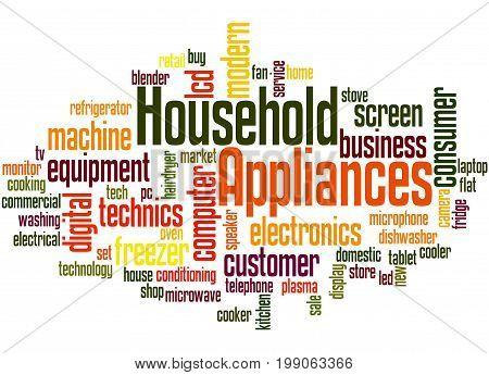 Household Appliances, Word Cloud Concept 3