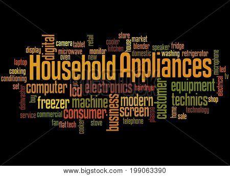 Household Appliances, Word Cloud Concept 6