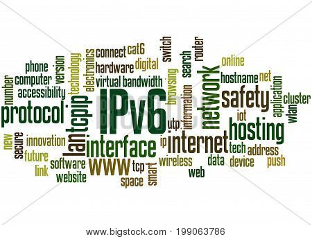 Ipv6 Network, Word Cloud Concept 3