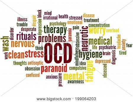 Ocd - Obsessive Compulsive Personality Disorder, Word Cloud Concept 4