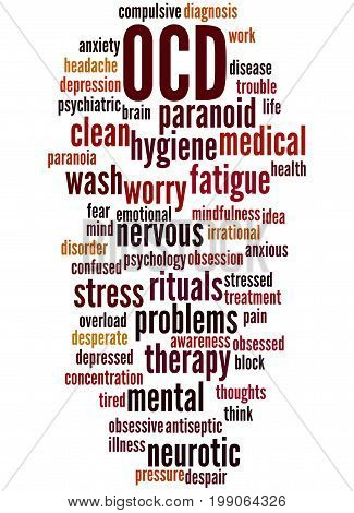 Ocd - Obsessive Compulsive Personality Disorder, Word Cloud Concept 6