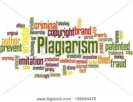 Plagiarism, Word Cloud Concept 3