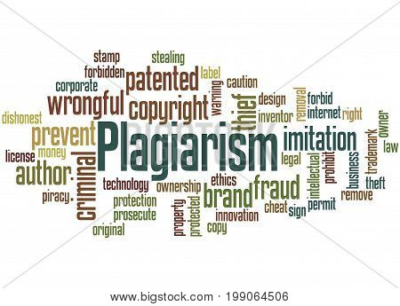 Plagiarism, Word Cloud Concept 5