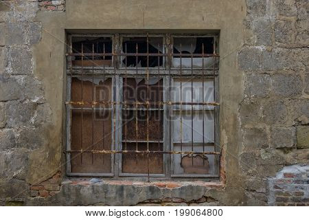 The Window In Wall Of An Old Building