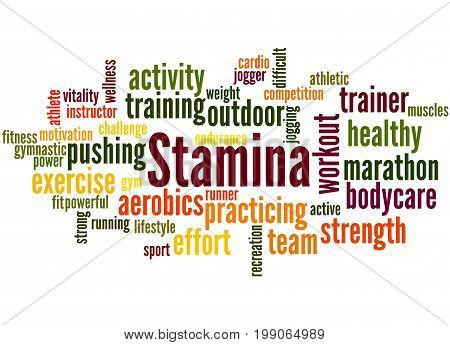 Stamina Is Staying Power Or Enduring Strength, Word Cloud 3