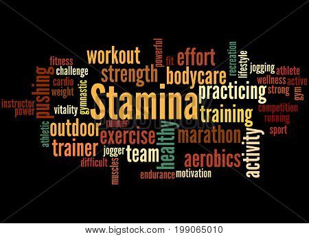 Stamina Is Staying Power Or Enduring Strength, Word Cloud 4