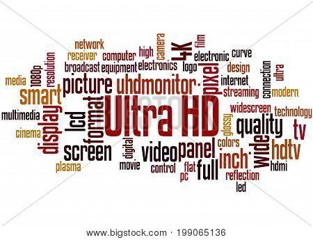 Ultra Hd, Word Cloud Concept 6