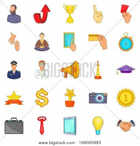 Administration icons set. Cartoon set of 25 administration vector icons for web isolated on white background