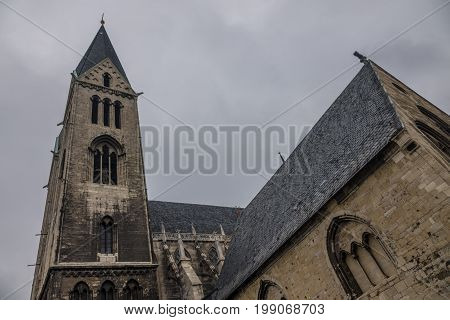 The Old And Ancient Cathedral In Halberstadt, Germany