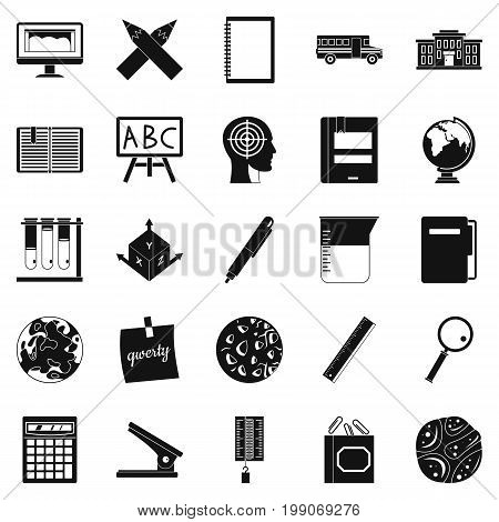 Survey icons set. Simple set of 25 survey vector icons for web isolated on white background