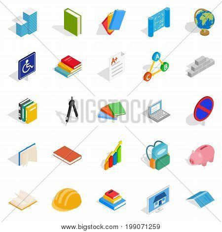 Doctrine icons set. Isometric set of 25 doctrine vector icons for web isolated on white background