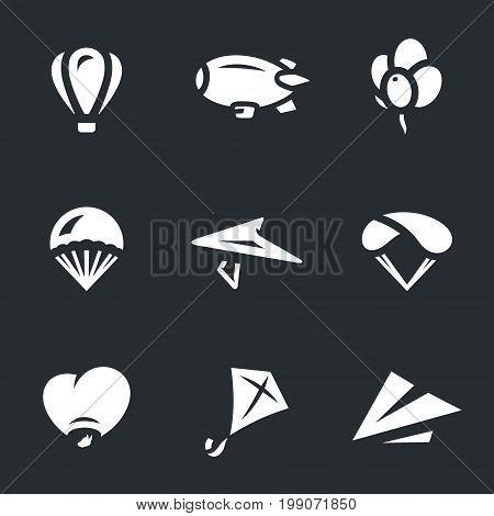 Airship, balloon, parachute, hang-glider, air lantern, kite, paper airplane.