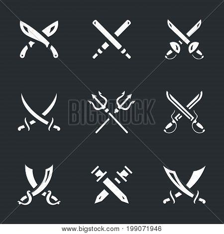 Machete, laser, sword, saber, epee, trident, swords, scimitar.