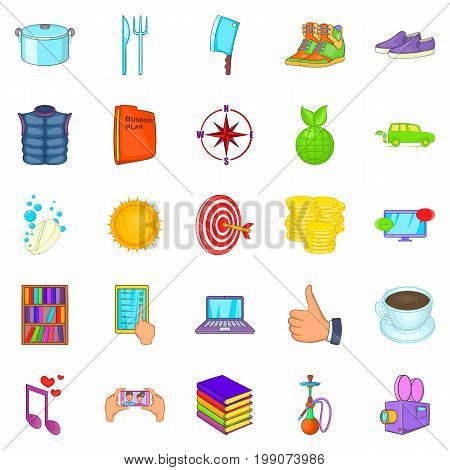 Tan icons set. Cartoon set of 25 tan vector icons for web isolated on white background