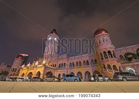 30/04/17 Sultan Abdul Samad Building, Kuala Lumpur, Malaysia. Night Photo Of The Building.