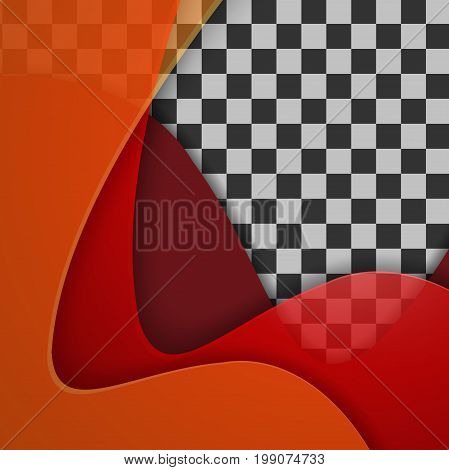 Vector colorful wavy design with copy space. Illustration with wavy design. Template for your design. Eps10