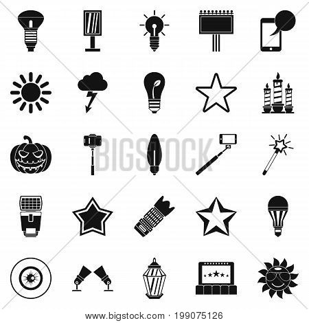 Explosion icons set. Simple set of 25 explosion vector icons for web isolated on white background
