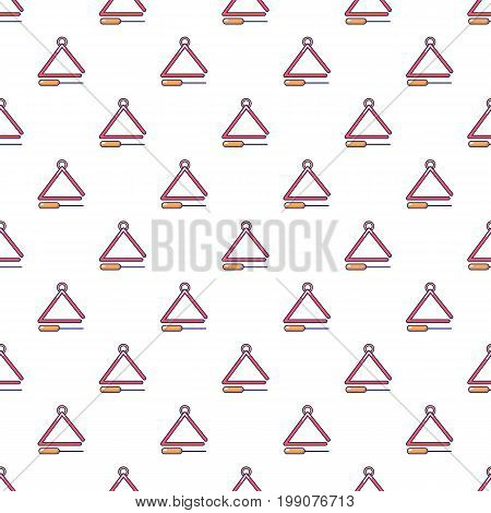 Musical triangle pattern in cartoon style. Seamless pattern vector illustration