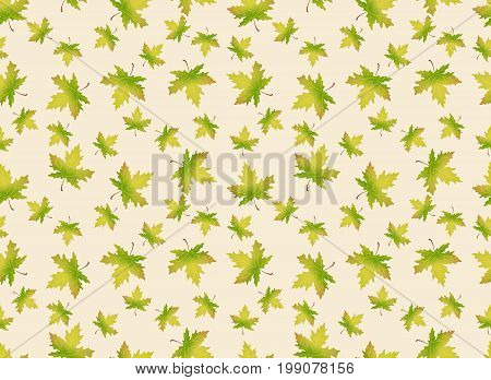 Autumn leaves illustration. Vector seamles pattern. Endless background can be used for wallpaper, textile and web page background.