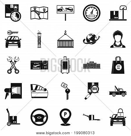 Heaver icons set. Simple set of 25 heaver vector icons for web isolated on white background