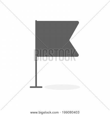 Gray Map Marker And Pin Vector Illustration