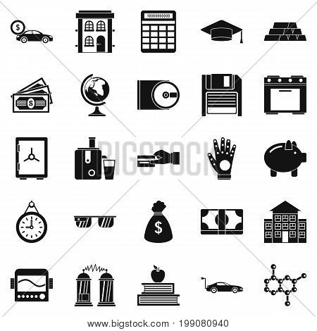 Borrowing icons set. Simple set of 25 borrowing vector icons for web isolated on white background