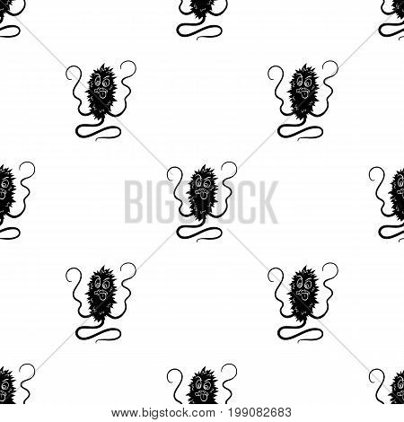 Brown virus icon in black design isolated on white background. Viruses and bacteries symbol stock vector illustration.